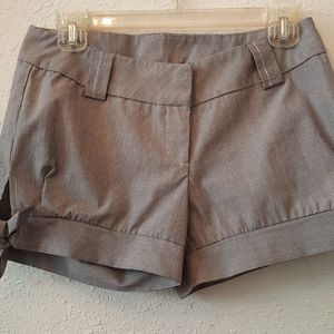 Pants - Katwalk short stripped grey shorts